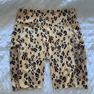 Fabletics powerhold leopard biker shorts